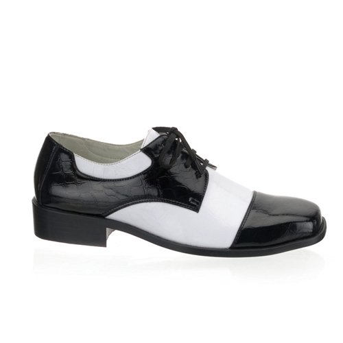 Funtasma by Pleaser Men's Halloween Disco-18,Black Patent/White Patent,M (US Men's 10-11 M) -