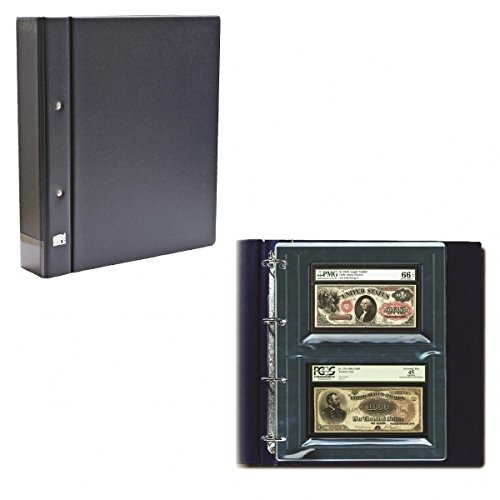 GRADED CURRENCY ALBUM W 10 PAGES - BLUE (Graded Currency)