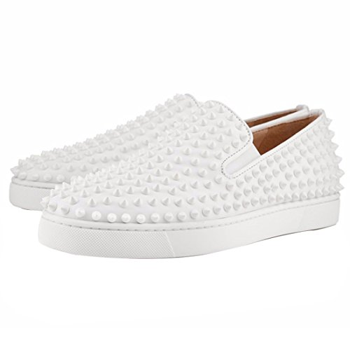 Mocassino Slip On Mocassini Neri Con Sneakers Moda A Spillo Bianche
