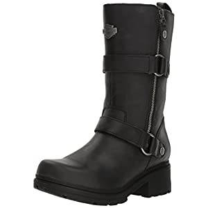 Harley-Davidson Women's Ardsley Motorcycle Boot, Black, 8.5 Medium US