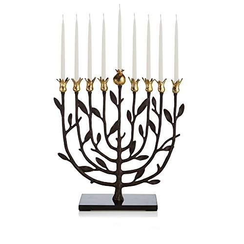 Michael Aram Pomegranate Kosher Menorah by Michael Aram