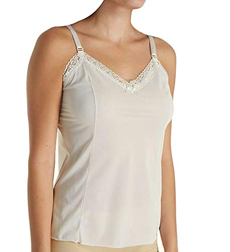 Shadowline Adjustable Strap Camisole, Ivory, 46