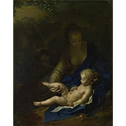 Oil Painting 'Adriaen Van Der Werff The Rest On The Flight Into Egypt ' Printing On Polyster Canvas , 16 X 20 Inch / 41 X 52 Cm ,the Best Bedroom Decoration And Home Decor And Gifts Is This Amazing Art Decorative Prints On Canvas