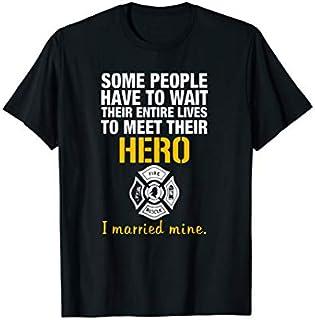 ⭐️⭐️⭐️ I married mine firefighter hero -cheap firefighter te Need Funny Short/Long Sleeve Shirt/Hoodie