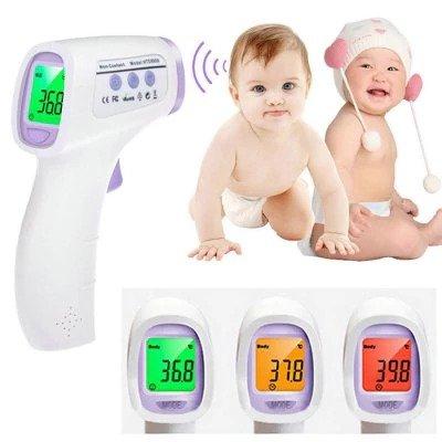 LCD Numérique Thermomètre Pour Bébé Adulte Sans Contact Infrarouge Corps Thermomètre (Bleu/Blanc) SYMTOP