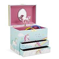 JewelKeeper Large Musical Jewelry Box 2 Drawers