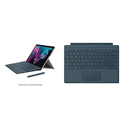 Microsoft Surface Pro 6 (Intel Core i5, 8GB RAM, 128GB) - Newest Version  and Microsoft Surface Pro Signature Type Cover- Cobalt Blue