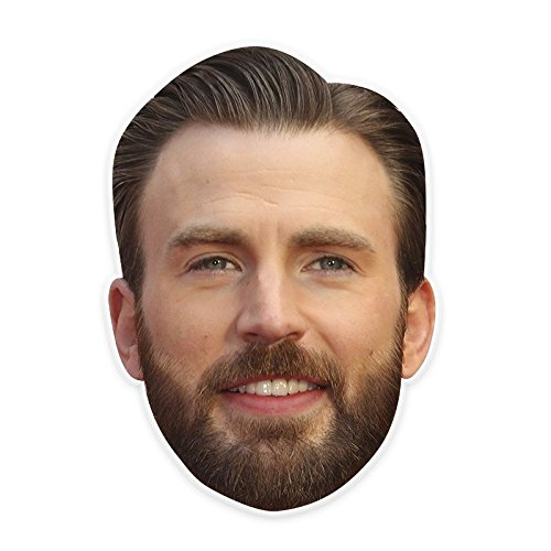Excited Chris Evans Mask, Perfect for Halloween, Masquerades, Parties, Festivals, Concerts - Jumbo Size Waterproof -