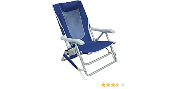GCI Outdoor Waterside Reclining Portable Backpack Beach Chair