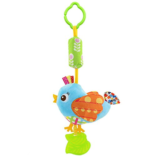 Baby Chime Infant Rattle (Crib Rattles Animal Teethers Toys bird design)