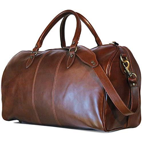 Floto Venezia Duffle Bag Travel Bag Luggage version 2.0 (Vecchio Brown)