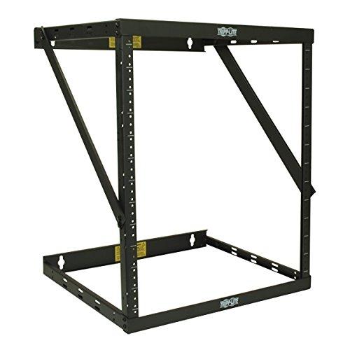 12u Wall Fixed (Tripp Lite 12U Wall Mount 2-Post Open Frame Rack, Heavy Duty Network Equipment Rack, Switch Depth, 18