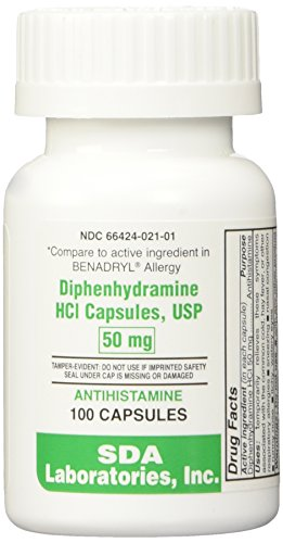 Diphenhydramine 50mg Capsules 100ct Btl (Pack of 2) (Atopica 50 Mg Best Price)