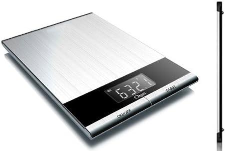 Design digitale da cucina Bilancia digitale da cucina lettera Bilancia 5000g//2g in acciaio inox