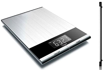 amazon com ozeri ultra thin professional digital kitchen food scale