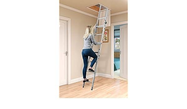 SupaTool – Escalera para altillo, de aluminio, 2 secciones: Amazon.es: Hogar