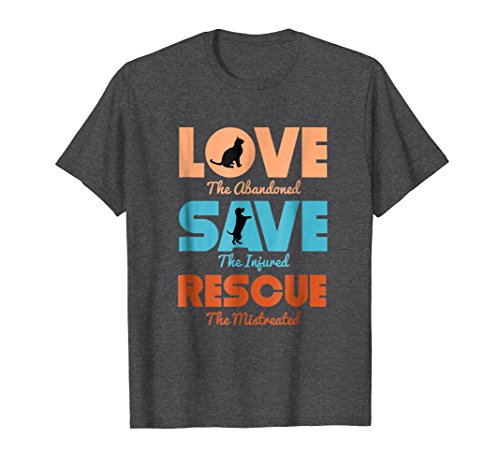 e Dog Cat Animals Support T-Shirt XL Dark Heather ()
