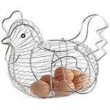 Chicken Shaped Wire Egg Basket - Egg holder - Egg stand
