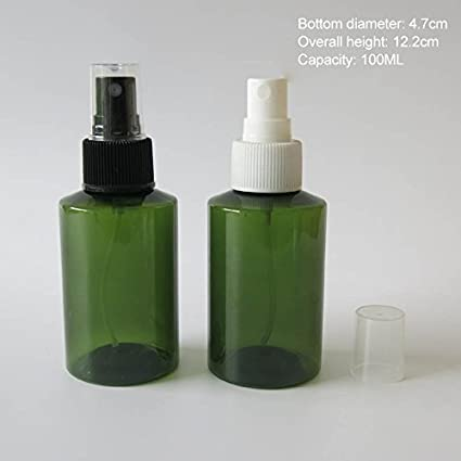 30 x 100 ml DIY verde Pet botella de Perfume, 100 cc plástico botella con