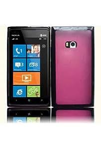 HHI Nokia Lumia 900 Hybrid Flexible TPU Skin Case - Black/Hot Pink (Package include a HandHelditems Sketch Stylus Pen)