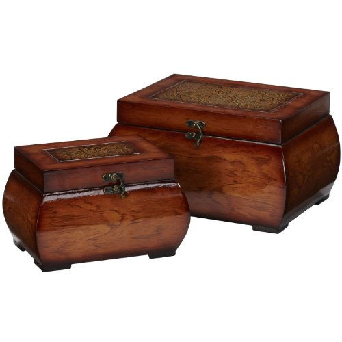 New Decorative Lacquered Wood Chests (Set of 2) NA by Generic (Image #4)