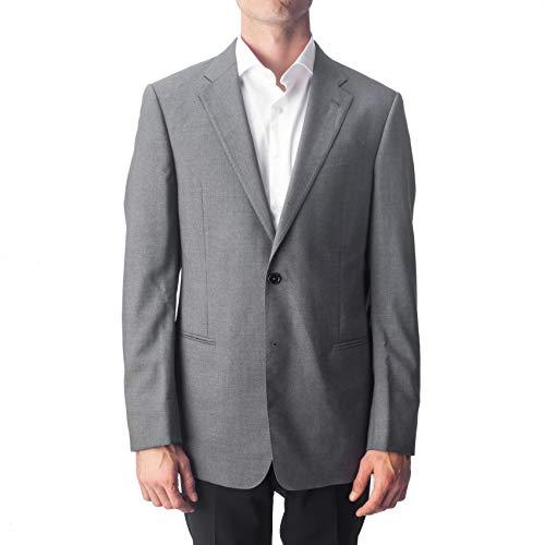 Armani Collezioni Men's G-Line Two Button Wool Suit Jacket Grey