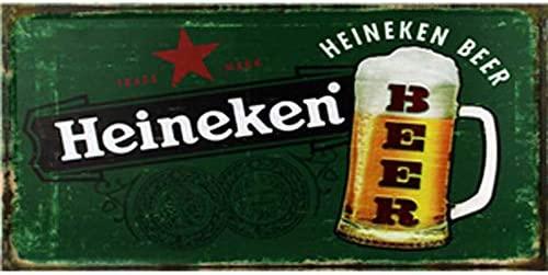 VACFIT Heineken Beer Vintage Póster de Pared Retro Metal ...