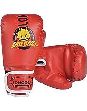 Longeek Rękawice bokserskie, rękawice bokserskie, rękawice bokserskie, rękawice bokserskie i podkładki 10 ml Junior Cartoon Sparring bokserskie sportowe rękawice dla dzieci w wieku od 3 do 10 lat