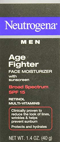 Neutrogena Men Age Fighter Face Moisturizer SPF 15-1.4 oz (Pack of 3)