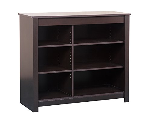 Mylex Deluxe Bookcase and TV Stand, Adjustable Shelves, 36.13 H x 41.5 W x 15.5 D Inches, Chocolate, Assembly Required (43083) (Tv Book Case)