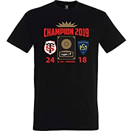 Top 14 de Rugby T-Shirt Stade TOULOUSAIN - Champion 2019 - Collection Officielle