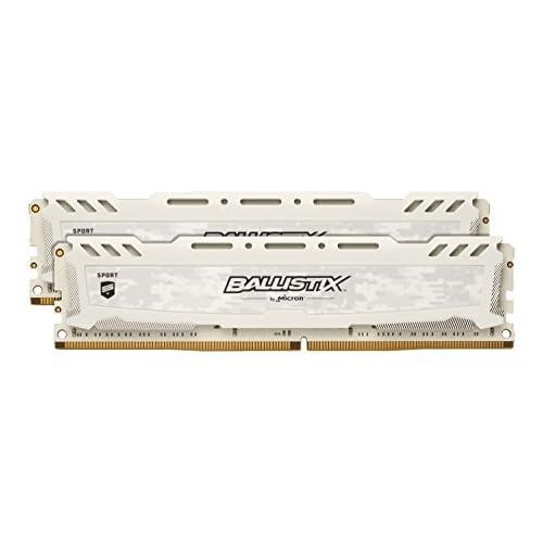 chollos oferta descuentos barato Ballistix Sport BLS2C8G4D26BFSC BLS2K8G4D26BFSC Kit de memoria RAM de 16GB 8GB x 2 DDR4 2666 MT s PC4 21300 Dual Rank x8 DIMM 288 Pin blanco