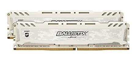 Ballistix Sport LT 8GB Kit (4GBx2) DDR4 2666 MT/s (PC4-21300) SR x8 DIMM 288-Pin - BLS2K4G4D26BFSC (White)