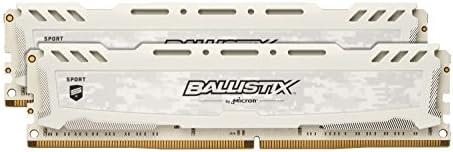 Ballistix Sport BLS2K8G4D26BFSC. Kit de memoria RAM de 16 GB (8 GB x 2, DDR4, 2666 MT/s, PC4-21300, DR x8, DIMM, 288-Pin), blanco