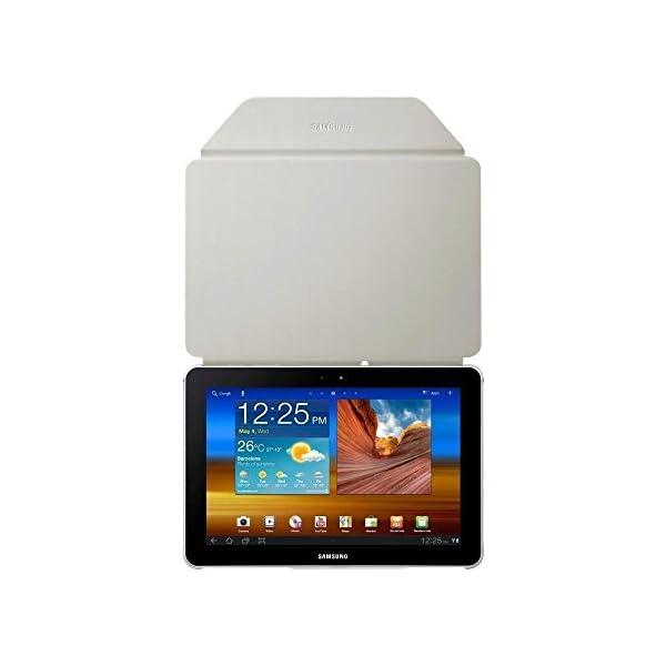 Samsung Book Cover - Funda para Samsung GT-P7500 Galaxy Tab 10.1 (función soporte), blanco 12