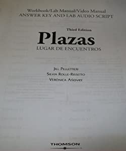 Sam answer key and audio script for book by robert hershberger plazas lugar de encuentros workbook video manual lab manual answer key with fandeluxe Images