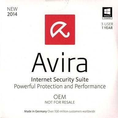 Avira Internet Security Suite 2014 - 3 PC / 1 Jahr - OEM - UK