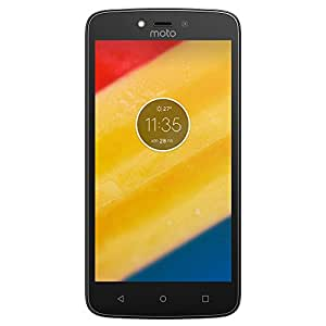 "Motorola XT1725 Smartphone Moto C Plus, 5"", 4G, 16GB, Quadcom 1.5Ghz, Cámara 8Mp, Android Nougat 7.0, color Negro"