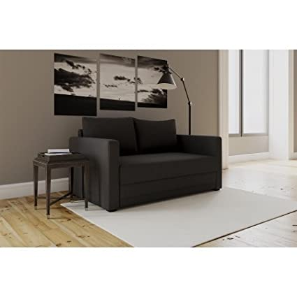 Modern Design Flip Sofa Sleeper Chair, (Black)