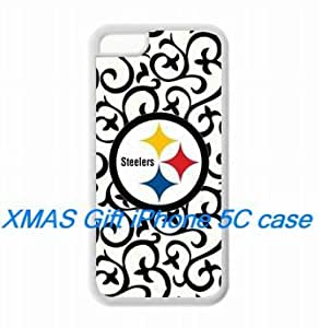 Fitted iPhone 5C TPU Cases NFL Pittsburgh Steelers logo covers for a Christmas gift by hiphonecases