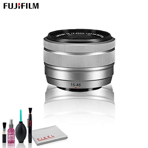 Fujifilm XC 15-45mm f|3.5-5.6 OIS PZ Lens (Silver) with Cleaning Kit