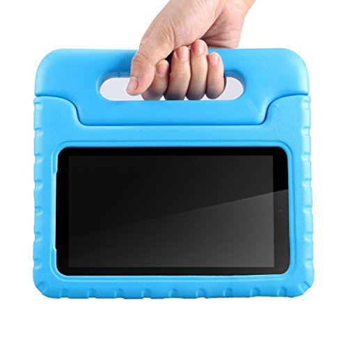 ANMANI Samsung Galaxy Tab E Lite 7.0 inch Kids Case - ShockProof Case Light Weight Kids Case Super Protection Cover Handle Stand Case For Samsung Galaxy Tab E Lite 7-Inch Tablet - (Blue) (Galaxy Pedestal)
