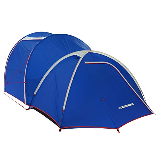 DL Adventure Camel2 EX6 Lightweight, Spacious Interior Space Camping Tent, Ventilated/Waterproof/UV-Resistant/CPAI84 Certified Durable Fabric Full Coverage Rainfly, Detachable 6-Person Mesh Inner Tent