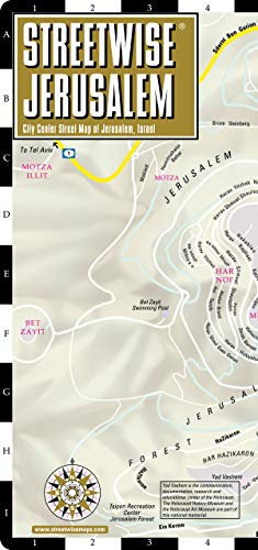 Streetwise Jerusalem Map - Laminated City Center Street Map of Jerusalem, Israel (Michelin Streetwise Maps)