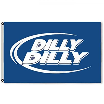 17882d9a093bc Amazon.com   2But Bud Light Dilly Dilly Beer Flag Banner 3X5 Feet Blue    Garden   Outdoor