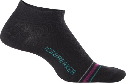 Icebreaker Women's City Ultra Light Low Cut Socks, Black, Medium