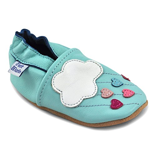 a352743193ca7 Galleon - Beautiful Soft Leather Baby Shoes - Crib Shoes With Suede Soles