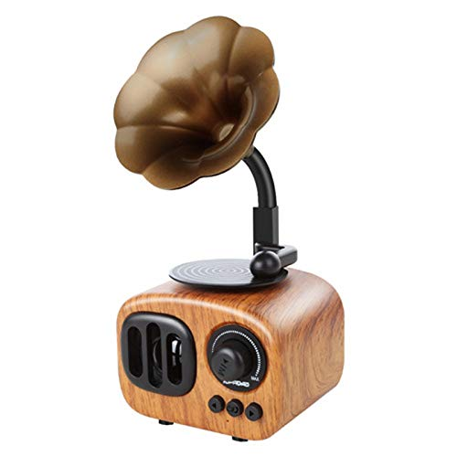 CICIN Retro Trumpet Style Bluetooth Speaker, Wireless Stereo Subwoofer Music Box Wooden Speakers with Mic FM Radio TF for Phone,2 (Best Trumpet Players Of All Time)