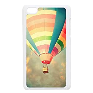 Ipod Touch 4 2D Personalized Phone Back Case with Fire Balloon Image