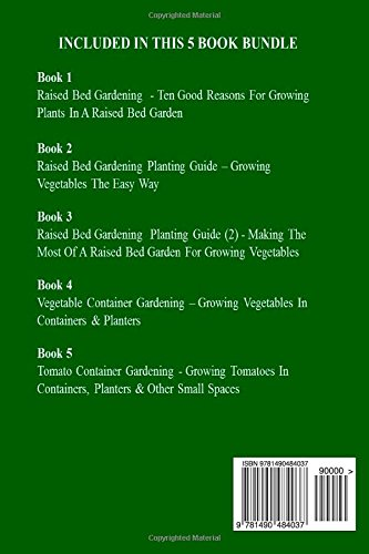 Raised Bed Gardening 5 Books bundle on Growing Ve ables In Raised Beds & Containers James Paris Amazon Books